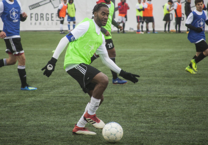 Justin Stoddart during Day 1 of the CPL's Open Trials in Hamilton. (Tyler Brown, Canadian Premier League)
