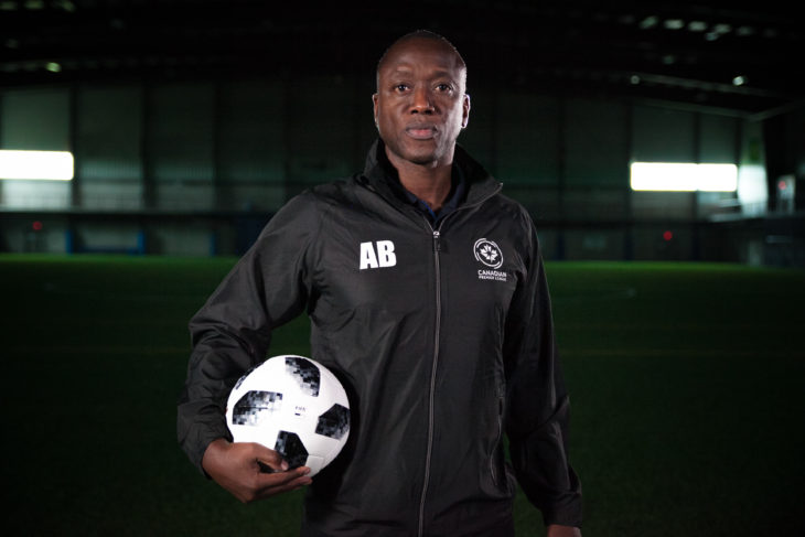 #GotGame Open Trials lead coach and Canadian soccer legend Alex Bunbury. (Joelle Elfassy/CPL)