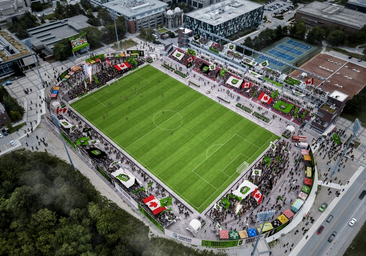 York 9 FC will play the latter portion of its 2019 home schedule at York Lions Stadium pending construction and renovations. (Handout)