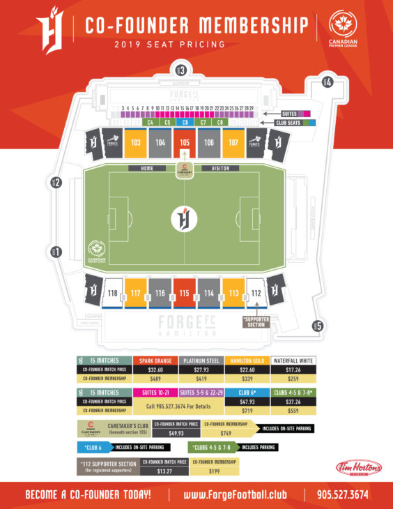 Forge FC - Seating & Price Chart
